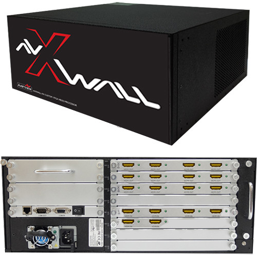 Avenview AVXWALL Modular 4K Video Wall Controller Chassis with 6 x 12 1080p  HDMI I/O Cards