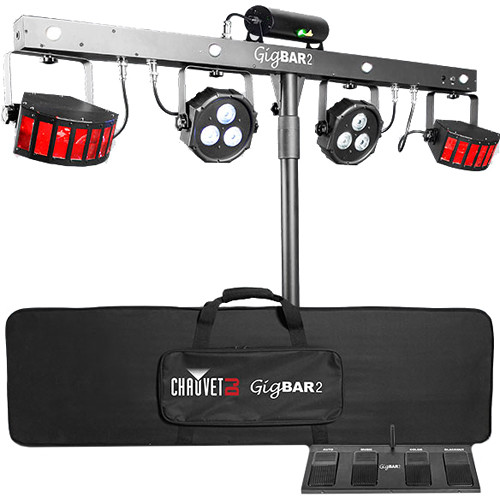 Chauvet DJ GigBAR 2 4-in-1 LED Lighting System with 2 LED Derbys?