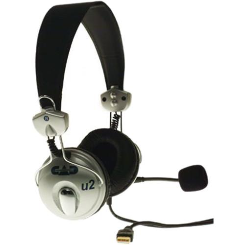 Cad U2 Usb Stereo Headphones With Condenser Microphone U2 B H