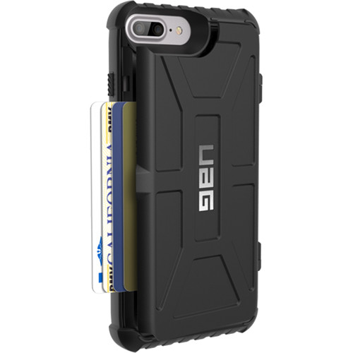 competitive price f4746 66713 Urban Armor Gear Trooper Card Case for iPhone 6 Plus/6s Plus/7 Plus/8 Plus  (Black)
