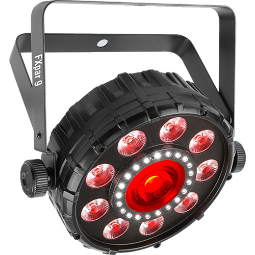 Chauvet DJ FXpar 9 Dynamic & Compact Multi-effect Fixture w/ Outer Ring of RGB+UV LEDs, Center LED, & SMD strobes