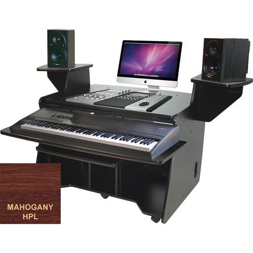Omnirax (NT-MF) NT Keyboard Composing / Mixing Workstation (Mahogany Formica)