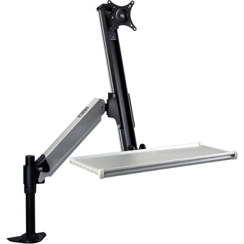 Dyconn (WF496B) Desk-Mounted Sit/Stand Workstation Mount with Foldable Keyboard Tray