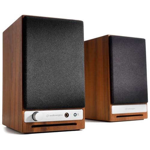 Audioengine (HD3-WAL) HD3 2-Way Wireless Bookshelf Speakers (Pair, Walnut)