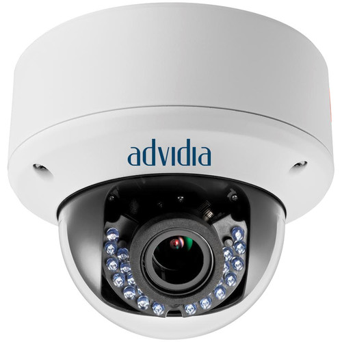Advidia (A-T-27-V) 2MP HD-TVI Outdoor Vandal-Resistant Dome Camera with 2.8 to 12mm Varifocal Lens & Night Vision