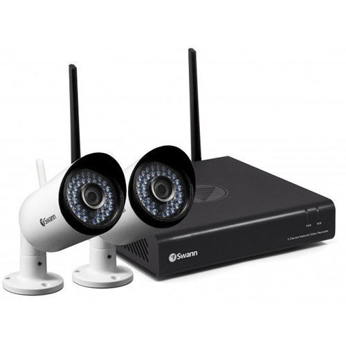 Swann (SWNVK-485KH2-US) NVW-485 4-Channel 1080p NVR with 1TB HDD and 2 1080p Outdoor Wi-Fi Bullet Cameras