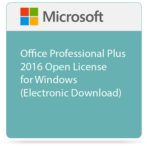 Microsoft Office Professional Plus 2016 Open License for Windows  (Electronic Download)