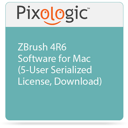 Pixologic ZBrush 4R6 Software for Mac (5-User Serialized License, Download)