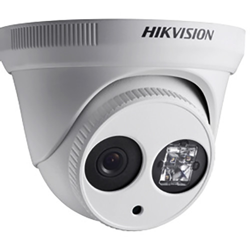 Hikvision (DS-2CE56D5T-IT3-3.6MM) Turbo HD 1080p Outdoor HDTVI Turret Camera with Night Vision & 3.6mm Fixed Lens (Off-White)