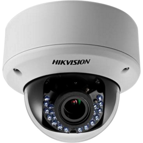 Hikvision (DS-2CE56D1T-AVFIRB) DS-2CE56D1T-AVFIRB 2MP HD-TVI Dome Camera with Night Vision & 2.8-12mm Varifocal Lens (Black)
