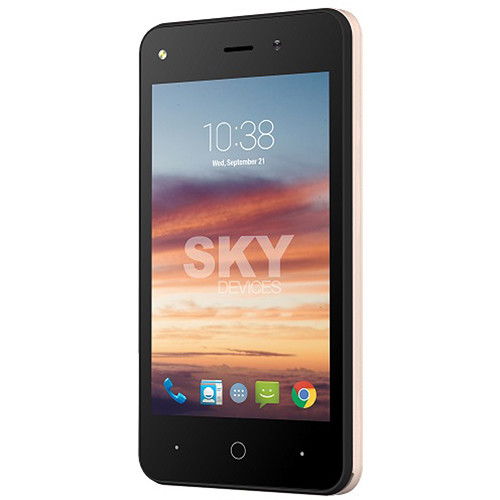 SKY Devices Platinum 4 0 4GB Smartphone (Unlocked, Gold)