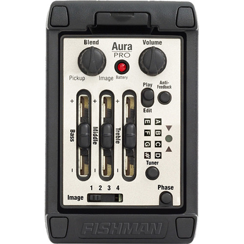Fishman Aura Pro Onboard Preamp System for Acoustic Instruments (Wide  Format)