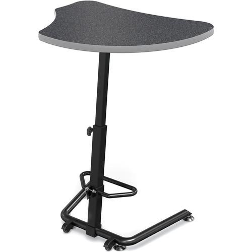 Balt (90532-G-4623-PL) Up-Rite Harmony Height Adjustable Sit/Stand Desk (Graphite Nebula Finish, Platinum Edge)