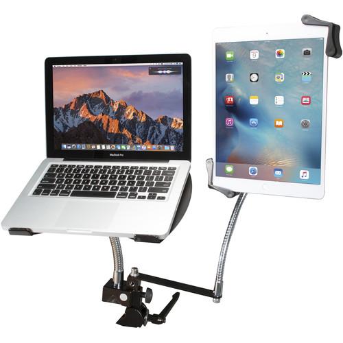 CTA Digital (PAD-DLT) Laptop and Tablet Dual Gooseneck Clamp Stand