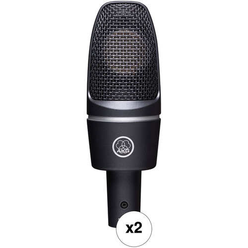 AKG C3000 Large Diaphragm Studio Recording Condenser Microphone Mic w//Shockmount