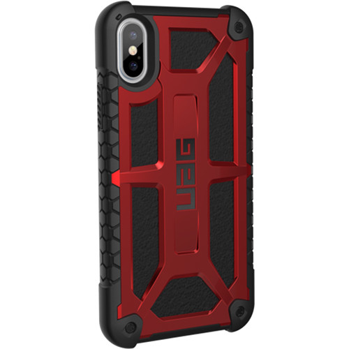 online retailer 24c1c 4edc2 Urban Armor Gear Monarch Case for iPhone X/XS (Crimson)