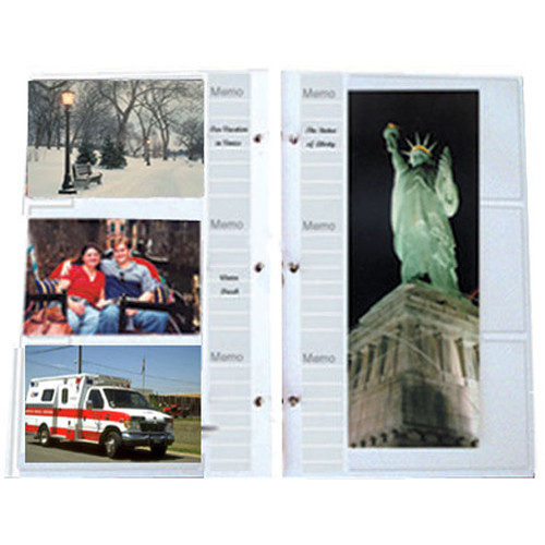 holds 4x6 Photos Pack of 10 Pages Pioneer Refill Pages for 3-Ring Photo Albums