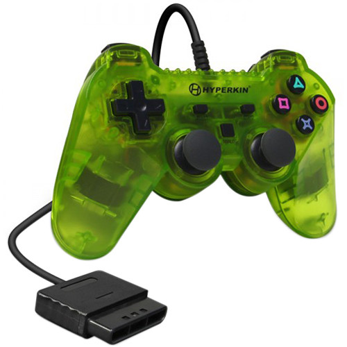 HYPERKIN Warrior Premium Controller for PS2 (Clear Yellow)