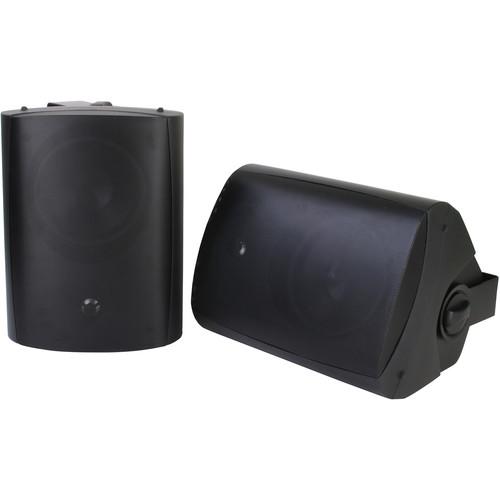 SunBriteTV (SB-AW-6-BLK) SB-AW-6 Surface-Mount Outdoor Speakers (Pair, Black)