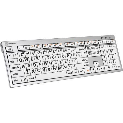 LogicKeyboard (LKBU-LPRNTBW-CWMU-US) Large Print ALBA Mac Pro American English Keyboard (Black on White)