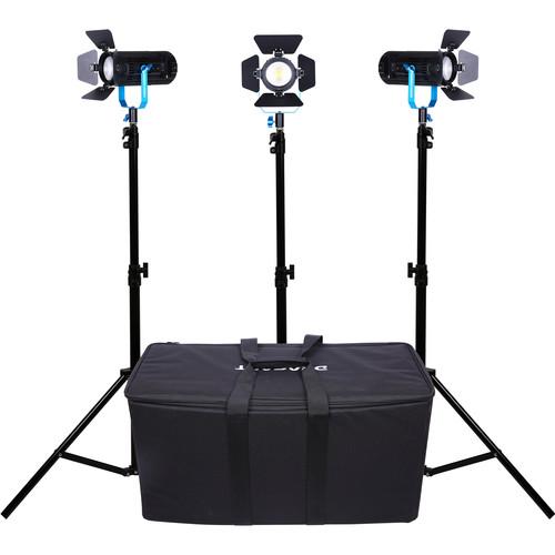 Dracast LED600 Plus 3-Light Kit + Dracast 2200 Mah Battery Kit