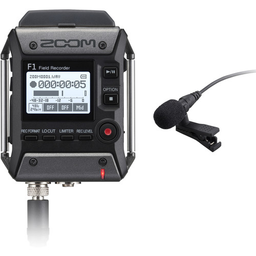 F1 Field Recorder With Lavalier Microphone by Zoom