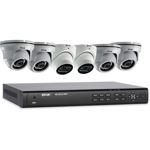 FLIR (M832K44) 8-Channel 4K UHD Analog DVR with 3TB HDD, 2 4K Dome Cameras & 4 4MP Dome Cameras