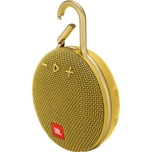 JBL (JBLCLIP3YELAM) Clip 3 Portable Bluetooth Speaker (Mustard Yellow)