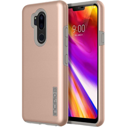 outlet store a4e38 5ff7a Incipio DualPro Case for LG G7 ThinQ (Iridescent Rose Gold/Gray)