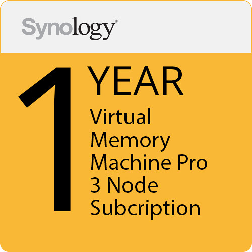 Synology Virtual Machine Manager Pro License (3 Nodes, 1-Year License)
