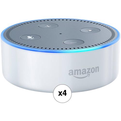 Amazon Echo Dot Quad Kit (2nd Generation, White)