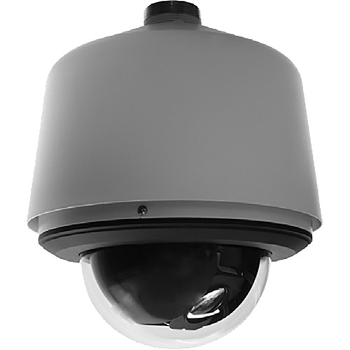 Pelco (S6220-ESGL1) Spectra 1080P 20x Low Light Environmental Stainless Pendant Camera with Clear Lower Dome (Gray)