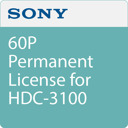 Sony 60p Permanent License For Hdc 3100