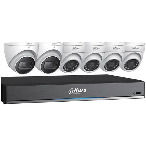 Dahua Technology (C788E63) C788E63 8-Channel 4K HDCVI DVR with 4 x 5MP and 2 x 4K Mini Eyeball Cameras