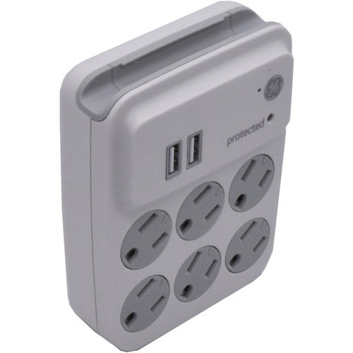 Bush Baby (BB4KWIFIOUTLET) Six-Outlet Wall Tap with 4K UHD Covert Wi-Fi Camera