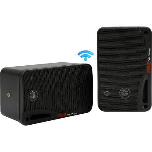 Pyle Pro (PDWR42BBT) 3.5 Bluetooth Home Speakers,3-Way Indoor/Outdoor Waterproof Speaker System, 200 Watt (Black)(Pair)