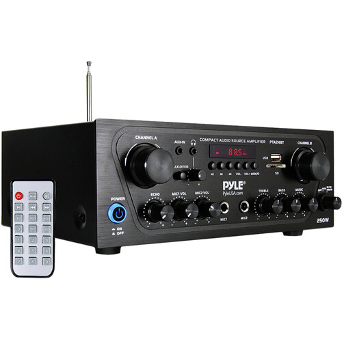 Pyle Pro (PTA24BT) PTA24BT Stereo Receiver with Bluetooth