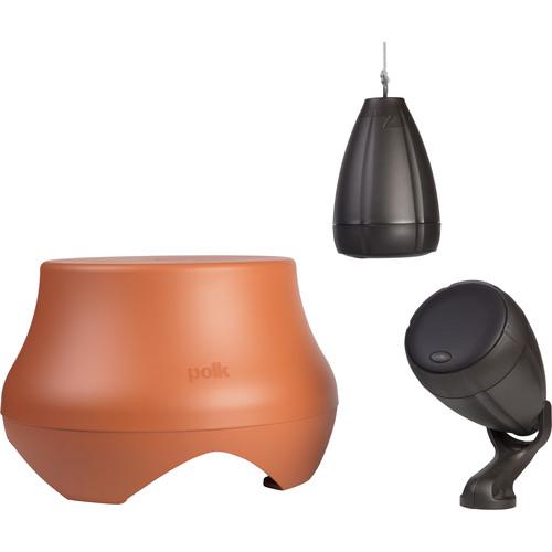 Polk Audio (AM4387-A) Atrium Garden System (Chestnut Brown Speakers, Terracotta Subwoofer)