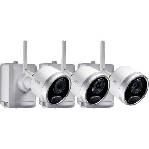 Lorex LWB4801AC2 1080p Outdoor Wire-Free Bullet Camera with Night Vision (3-Pack)