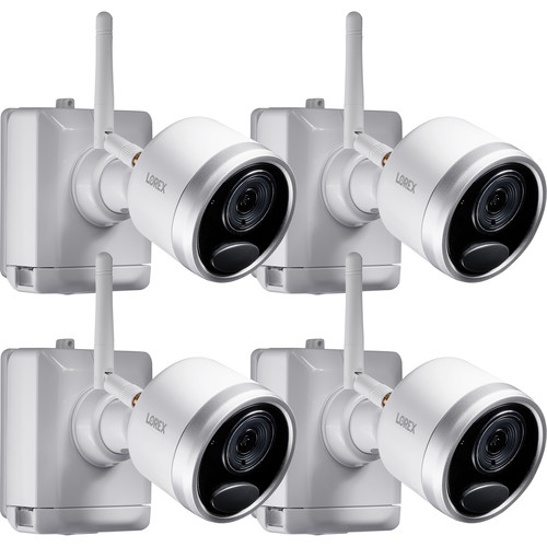 Lorex LWB4801AC2 1080p Outdoor Wire-Free Bullet Camera with Night Vision (4-Pack)