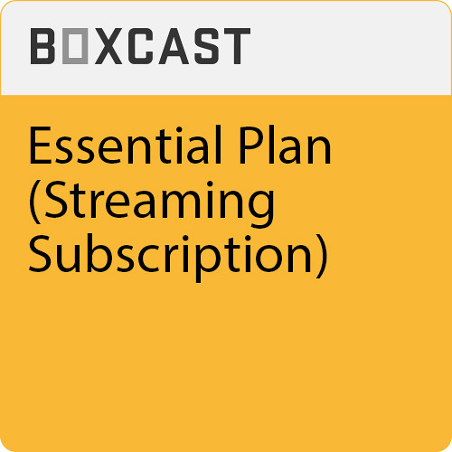 BoxCaster Live Streaming Subscription Essential Plan (1-Year)