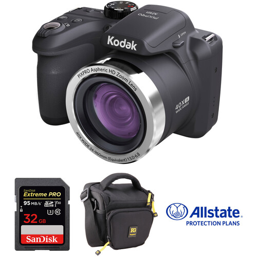 Kodak PIXPRO AZ401 Digital Camera Deluxe Kit (Black)