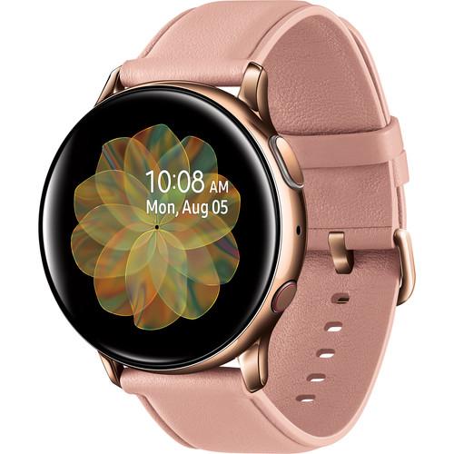 Samsung Galaxy Watch Active2 LTE Smartwatch (Stainless Steel, 40mm, Gold)
