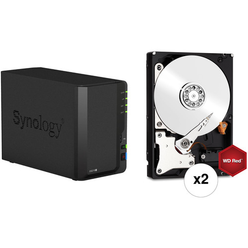 Synology DiskStation 12TB DS218+ 2-Bay NAS Enclosure Kit with WD NAS Drives  (2 x 6TB)
