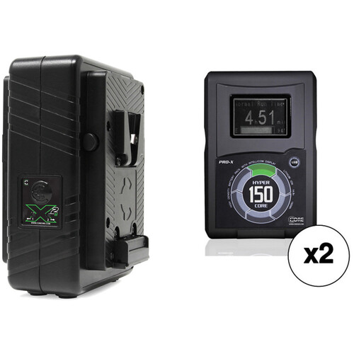 Core SWX HyperCore 150 V-Mount 2-Battery Kit with GPM-X2S Dual Charger
