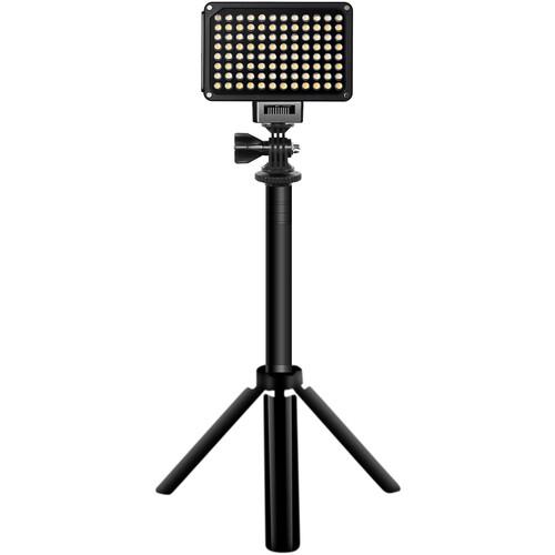 GVM Variable-Color On-Camera LED Light Kit with Mini Tripod & Suction Mount