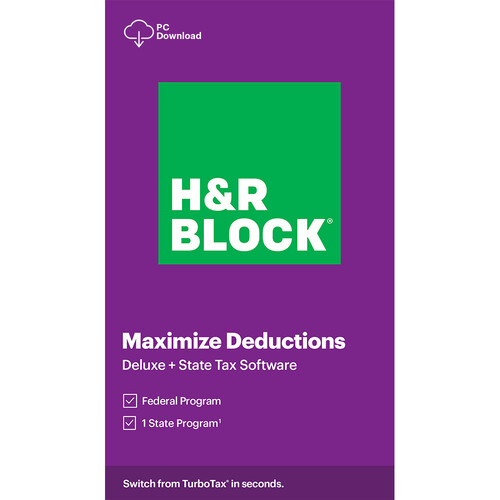 H&R Block 2020 Deluxe + State Tax Software