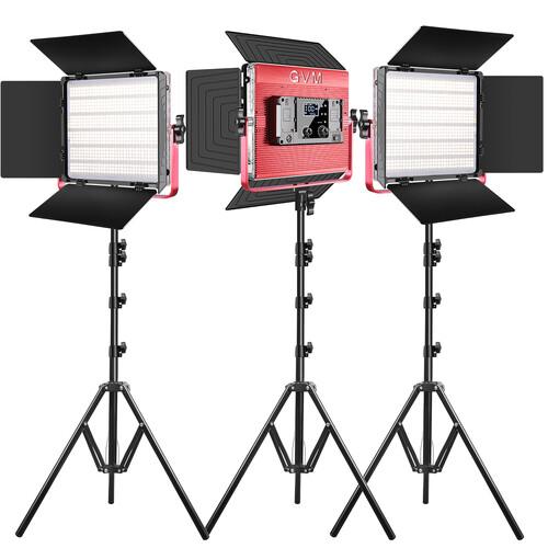 GVM RGB LED Video Bi-Color Soft 1200D 3-Light Panel