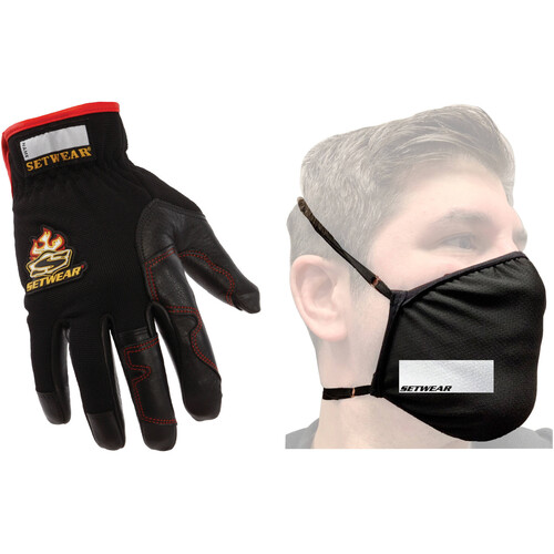 Setwear Hothand X-Small Glove Pair with 2-Layer Mask Kit