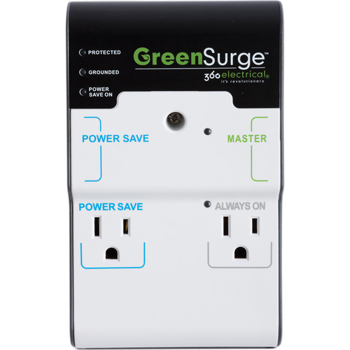 360 Electrical 4 Outlet GreenSurge Protector